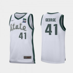 2019 Final-Four #41 Conner George MSU Jersey For Men White Retro Performance