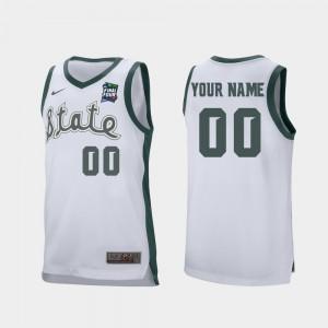 2019 Final-Four MSU Customized Jersey Retro Performance Men White #00