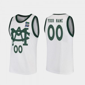 Vault MAC Replica Mens MSU Customized Jerseys #00 White 2019 Final-Four