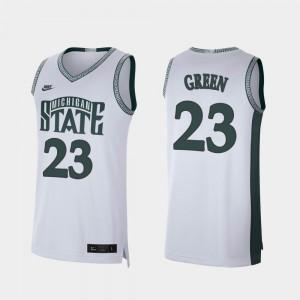 For Men #23 Draymond Green MSU Jersey Retro Limited White College Basketball