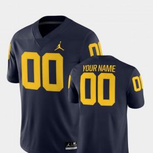 Navy 2018 Game Mens College Football Michigan Custom Jerseys #00