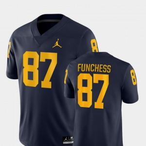 #87 Mens College Football Devin Funchess Michigan Jersey Game Navy