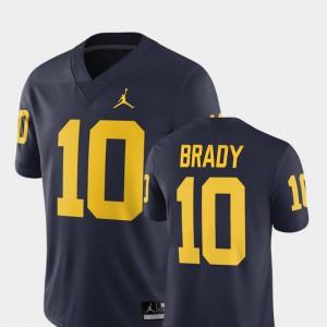 Tom Brady Michigan Jersey 2018 #10 Men Alumni Football Game Navy