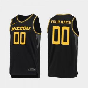 Missouri Customized Jerseys Mens 2019-20 College Basketball #00 Black Replica
