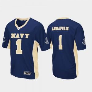 Max Power #1 Men Navy Football Navy Jersey