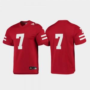 #7 Nebraska Jersey For Men's Replica Scarlet College Football