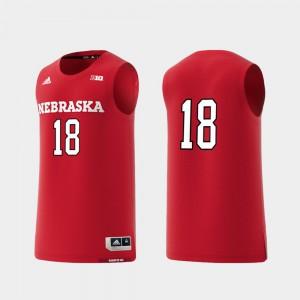 Men Scarlet Basketball Swingman #18 Nebraska Jersey College Replica