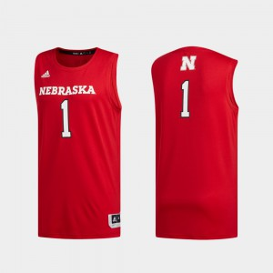 Nebraska Jersey Scarlet #1 Men's Basketball Swingman Swingman Basketball
