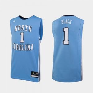 Replica Leaky Black UNC Jersey Carolina Blue #1 For Men's College Basketball