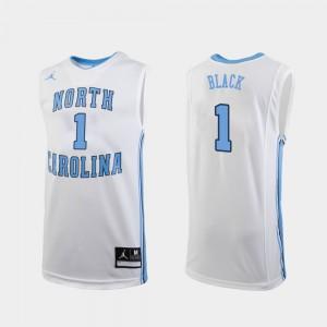 College Basketball White Mens Leaky Black UNC Jersey #1 Replica