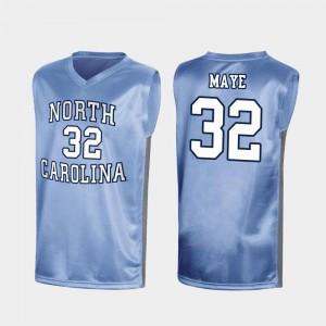 March Madness Royal Luke Maye UNC Jersey #32 Men Special College Basketball
