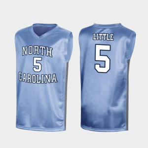 March Madness For Men Special College Basketball #5 Nassir Little UNC Jersey Royal