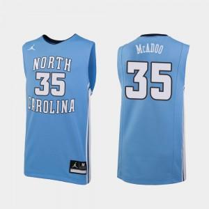 #35 Replica Ryan McAdoo UNC Jersey College Basketball Carolina Blue Men's