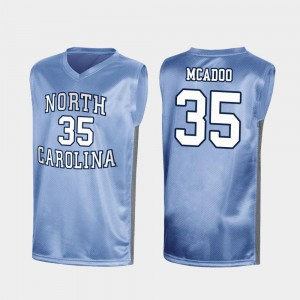 Mens Royal March Madness Special College Basketball Ryan McAdoo UNC Jersey #35