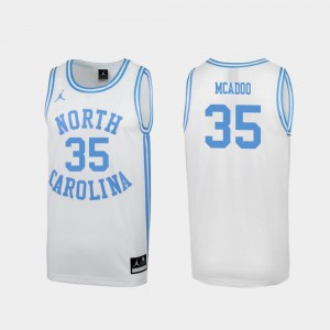 Special College Basketball March Madness #35 White Men's Ryan McAdoo UNC Jersey