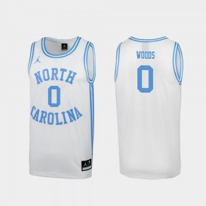 Seventh Woods UNC Jersey Mens #0 March Madness White Special College Basketball