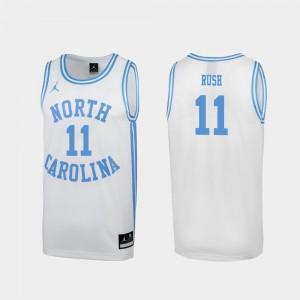 #11 Shea Rush UNC Jersey White March Madness Men's Special College Basketball
