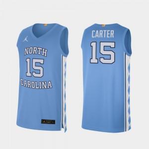 Mens Vince Carter UNC Jersey College Basketball Carolina Blue Alumni Limited #15
