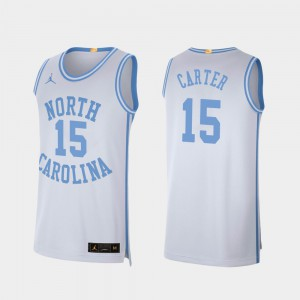 #15 White Vince Carter UNC Jersey College Basketball Mens Retro Limited