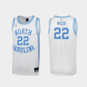 March Madness Men White Walker Miller UNC Jersey Special College Basketball #22