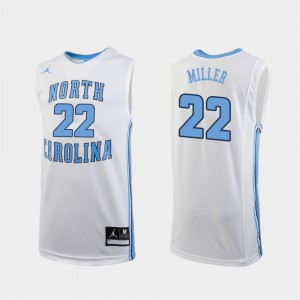 College Basketball Replica White #22 For Men Walker Miller UNC Jersey