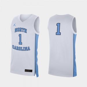 Replica White College Basketball #1 UNC Jersey Men