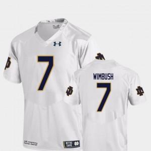 #7 Brandon Wimbush Notre Dame Jersey Replica For Men's College Football White