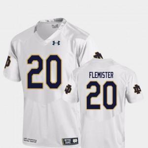 C'Bo Flemister Notre Dame Jersey #20 College Football Replica For Men White