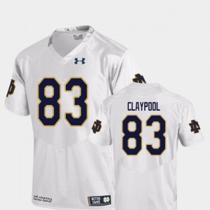 For Men White Chase Claypool Notre Dame Jersey Replica #83 College Football