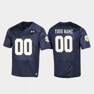 Notre Dame Customized Jersey For Men's Football Navy #00 Replica