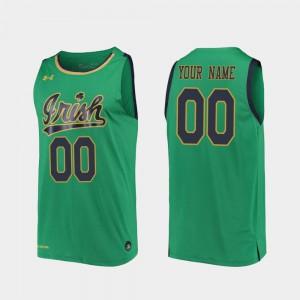 2019-20 College Basketball Notre Dame Custom Jersey Replica #00 Kelly Green Men
