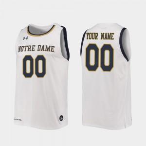 Replica Mens 2019-20 College Basketball White Notre Dame Customized Jerseys #00