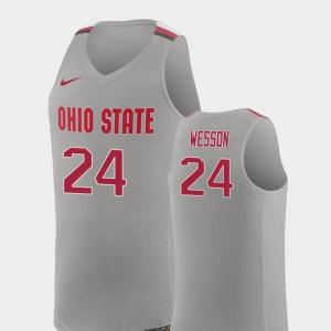 Andre Wesson OSU Jersey College Basketball Pure Gray #24 Men Replica
