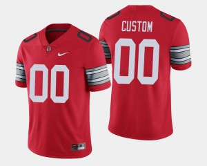 2018 Spring Game Limited For Men's #00 Scarlet OSU Customized Jersey