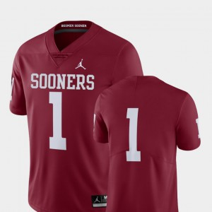 Men's Limited College Football OU Jersey Crimson #1