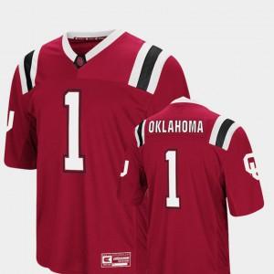 #1 Crimson Foos-Ball Football Colosseum OU Jersey Mens