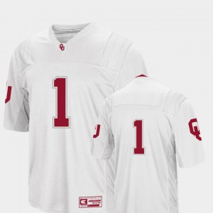 #1 White Colosseum OU Jersey College Football For Men