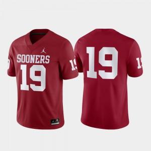 #19 For Men's Game Crimson OU Jersey