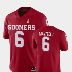 Baker Mayfield OU Jersey #6 Crimson Game College Football Men's