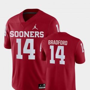 For Men's Sam Bradford OU Jersey #14 College Football Crimson Game