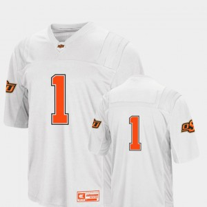 Mens College Football White #1 Oklahoma State Jersey Colosseum 2018