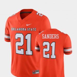 Orange Player Alumni Football Game #21 Barry Sanders Oklahoma State Jersey Men's