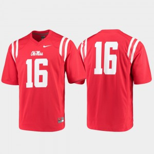 College Football For Men Ole Miss Jersey Red Game #16