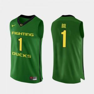 Bol Bol Oregon Jersey Authentic #1 Apple Green Mens College Basketball