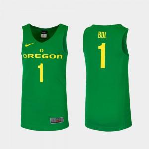 College Basketball Mens #1 Bol Bol Oregon Jersey Replica Green
