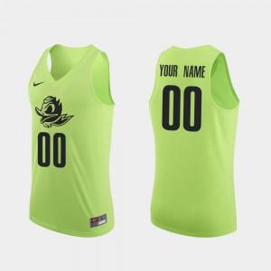 Apple Green #00 Oregon Custom Jersey Authentic Mens College Basketball