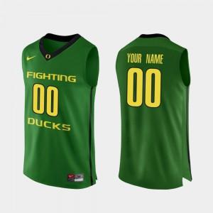 College Basketball Mens #00 Apple Green Oregon Custom Jersey Authentic