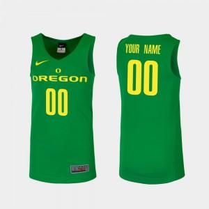 College Basketball #00 Men Replica Green Oregon Custom Jerseys