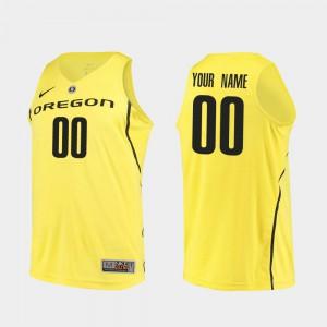 Authentic #00 Yellow Oregon Custom Jerseys Men's College Basketball
