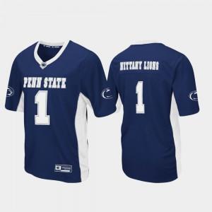 Penn State Jersey Football For Men #1 Max Power Navy